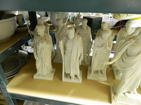 Roya Copenhagen Bertel Thorvaldsen The Twelve Apostles and Jesus Bisque Figurines
