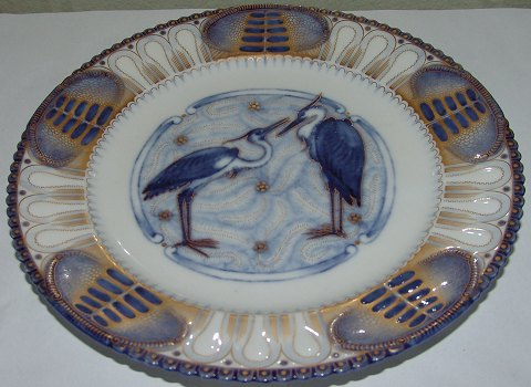 Bing and Grondahl Heron Plate from 1886-1888 23,5cm