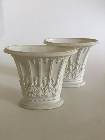 Royal Copenhagen Pair of Empire vases by Hetsch 1820-1850