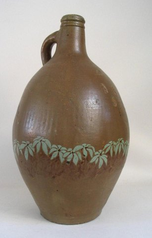 Pitcher in pottery, 19. C. Germany.