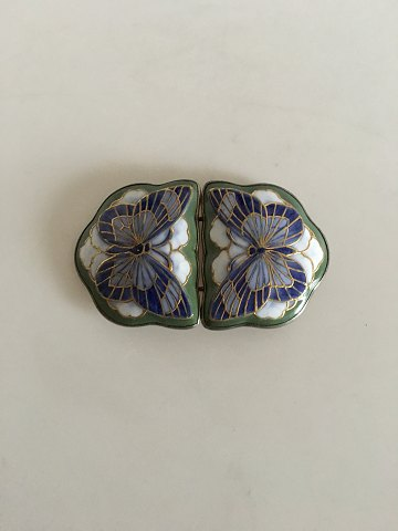Royal Copenhagen Anton Michelsen Belt Buckle No 336 by Christian Thomsen and is from 1906 Motif is butterflies.