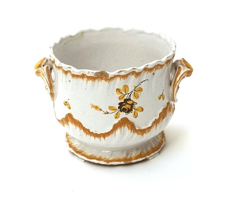 Potted plant faience or wine cooler Rörstrand 1773
