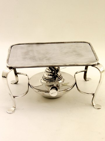 Silver-plated rack with hot-plate