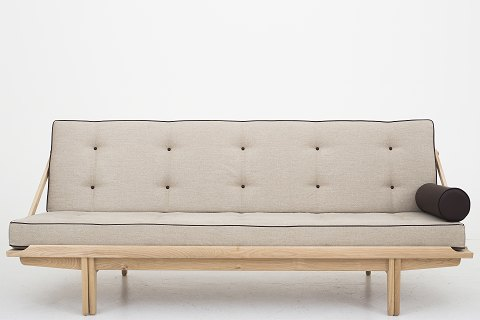 Poul Volther / KLASSIK Copenhagen Daybed is in oak and cushions in Canvas and buttons and pillow in Savanne-Antique leather Condition: New. Availability: 6-8 weeks Shown in KLASSIK Flagship Store - Bredgade 3, 1260 KBH K.