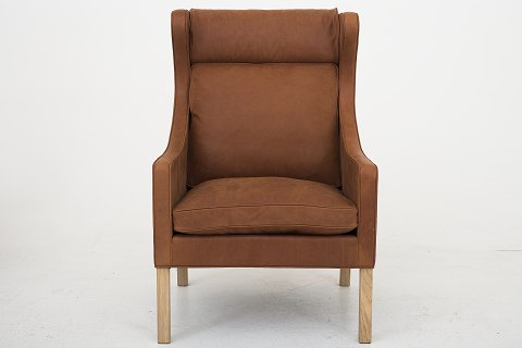Børge Mogensen / Fredericia Furniture BM 2204 easy chair, reupholstered in Dunes Rust leather Availability: 6-8 weeks Condition: Newly renovated