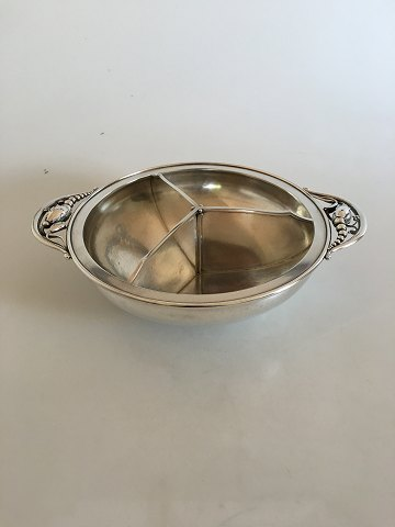 Georg Jensen Sterling Silver Blossom Bowl with Three Rooms #2E