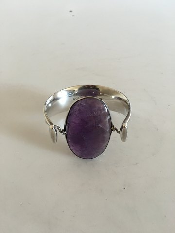 Georg Jensen Sterling Silver Torun Armring with Amethyst No 203