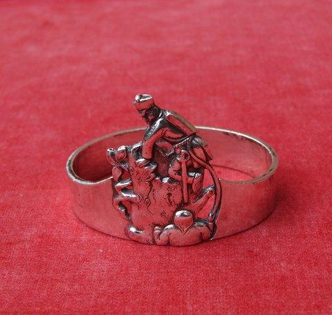Antikkram The TinderBox Childs napkin ring of Danish silver