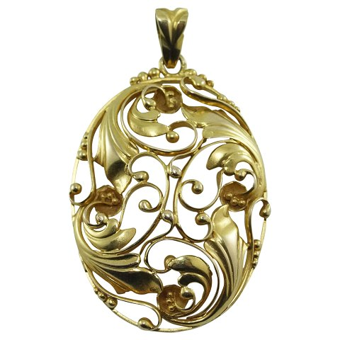 Viggo Wollny; A pendant of 14k gold
