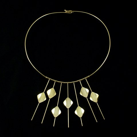 Bræmer-Jensen. 14k Gold Neck Ring - 1960s