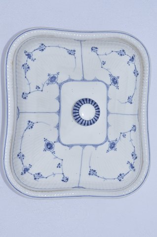 Royal Copenhagen. Covered dish. Blue fluted,antique more than 160 years old