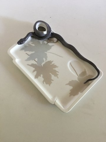 Royal Copenhagen Inkwell Tray No. 19 with Snake and Frog