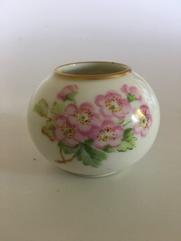 Royal Copenhagen Miniature Vase with Roses in Over Glaze