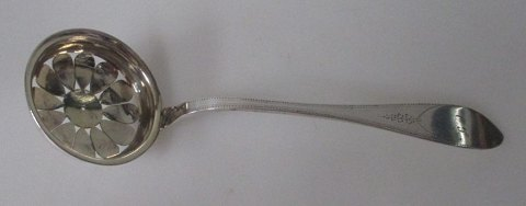 Antique sugar spoon, 1771, Johan Chritian Andreas Kragh (circa 1749 - 1808), Copenhagen, Denmark.