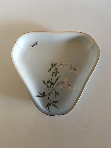 Bing & Grondahl Art Nouveau 3-sided dish with butterfly