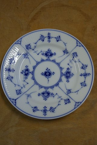 Blue Fluted plain. Antique pastry plates 16.5cms