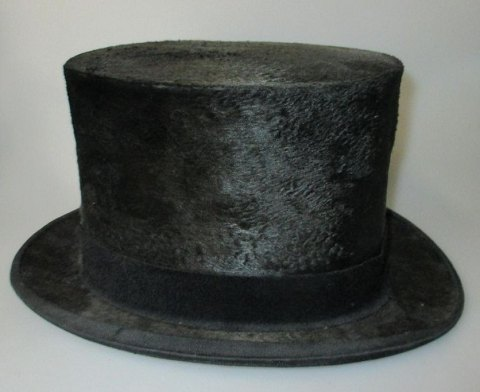 Top hat, 19th century, England. Moleskin.