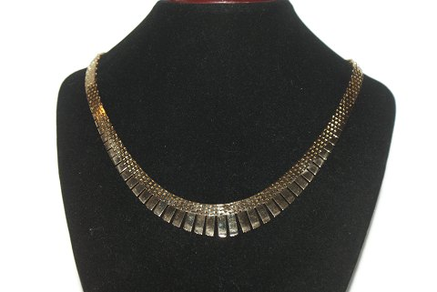 Brick Necklace with 7 Rows, 14 Carat Gold
