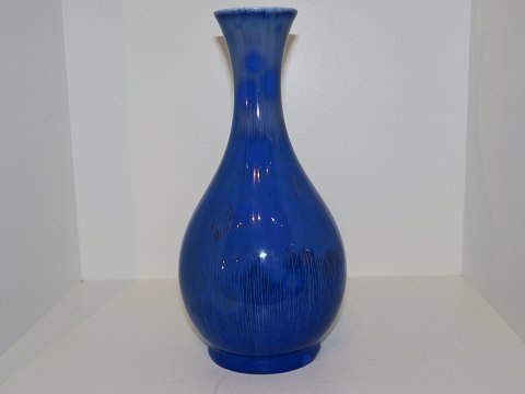 Royal Copenhagen Unique Art Nouveau blue crystal glaze vase by Frederik Ludvigsen