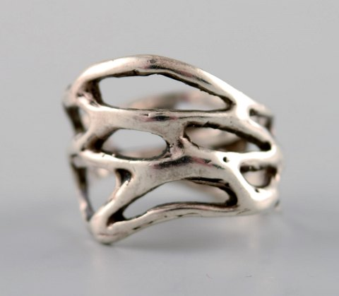 Swedish modernist silver ring.