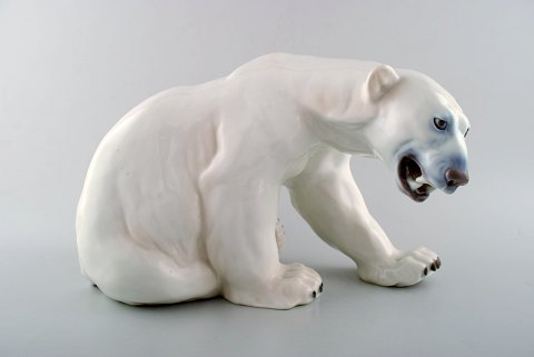 Bing and Grondahl/ B&G. Knud Kyhn. Polar bear in porcelain, no. 1857.
