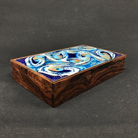 Alfred Klitgaard box with enamel by Bodil Eje
