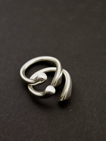 Georg Jensen Set Devoted Hearts Ring 262