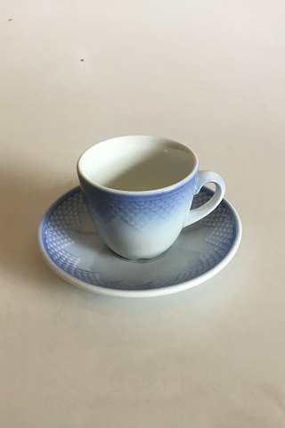 Bing & Grondahl Blue Tone - Seashell Hotel with logo Coffee Cup and Saucer No 1012