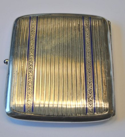 Silver cigatret case, Germany. 20th century