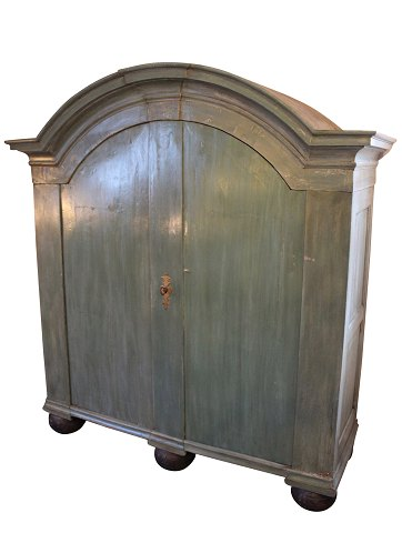 Green painted large baroque cabinet from Denmark around the year 1760. 5000m2 showroom.