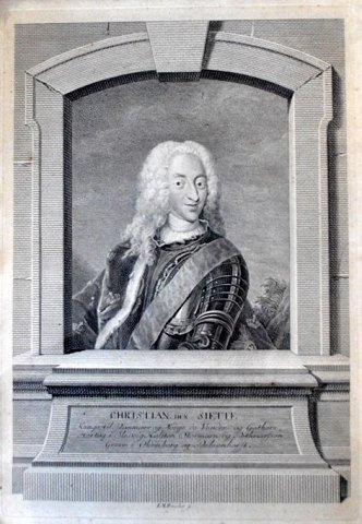 Preisler, Johan Martin (1715 - 1794): Portrait of King Christian VI. Engraving.