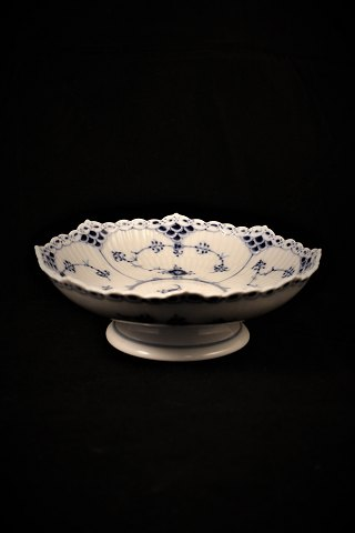 Royal Copenhagen, Blue Fluted, Half Lace Bowl on Foot. 1/511.