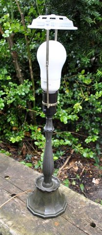 Just Andersen patinated metal lamp, 20th century