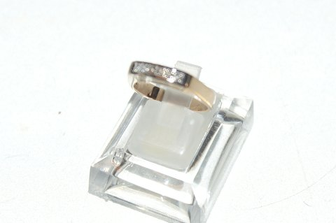 Women's Gold Ring with brilliant cut 14 carat
