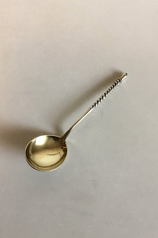 Russian silver spoon by Stepan Kuzimich Lewin, Moscow, 1875-1897.