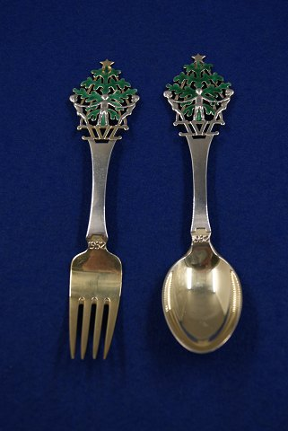 1983 Danish Gilded Christmas Coffee Spoon Michelsen A
