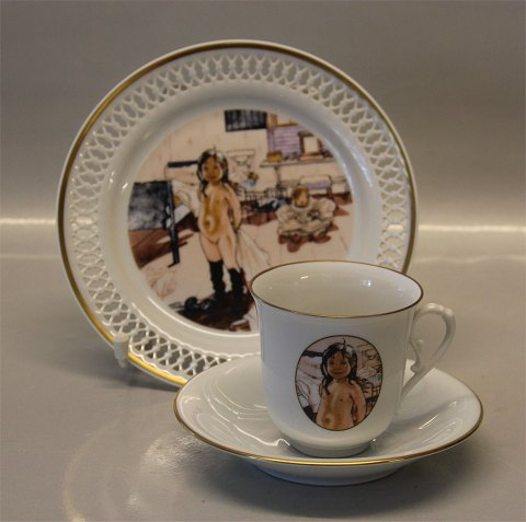 Carl Larsson BG Porcelain Artist Coffee Cups 305