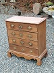 Small Danish oak chest of drawers approx. year 1800