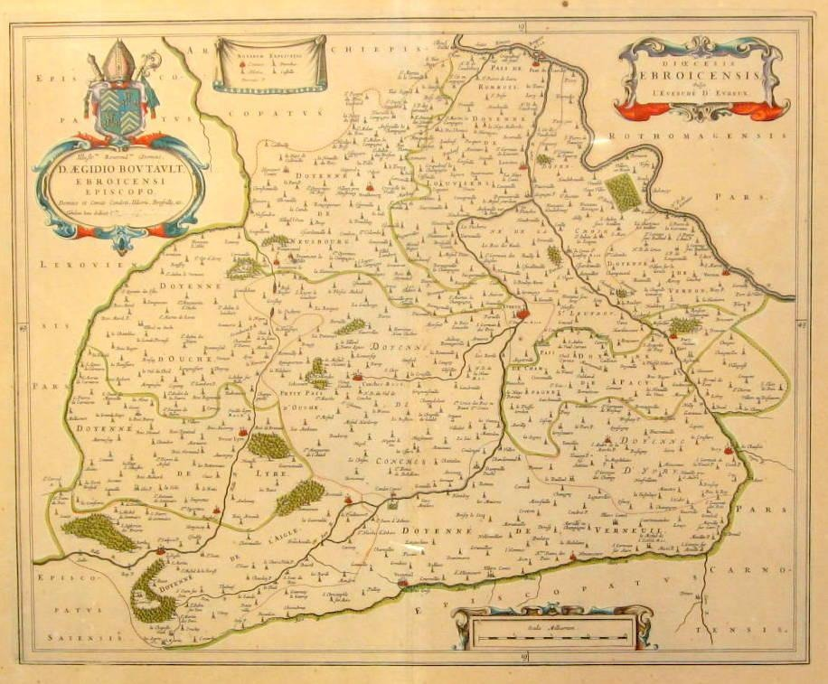 Evreux France Map.Worldantique Net Map Of The Diocese Of Evreux Northern Normandy