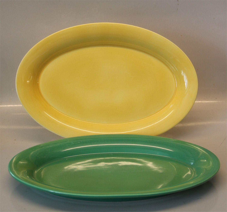 Ursula Tableware The original Royal Copenhagen Faience 624 Yellow plate,  large 33 cm