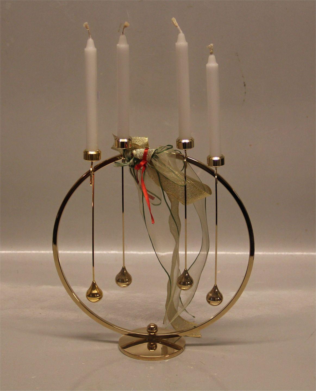 asmussen design WorldAntique.  Candle holder Danish Design Asmussen gilt  asmussen design