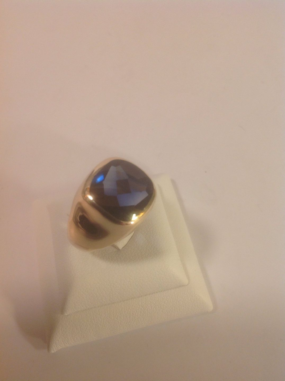 WorldAntique net - Ring  * sapphire (corundum)  * 14k Gold