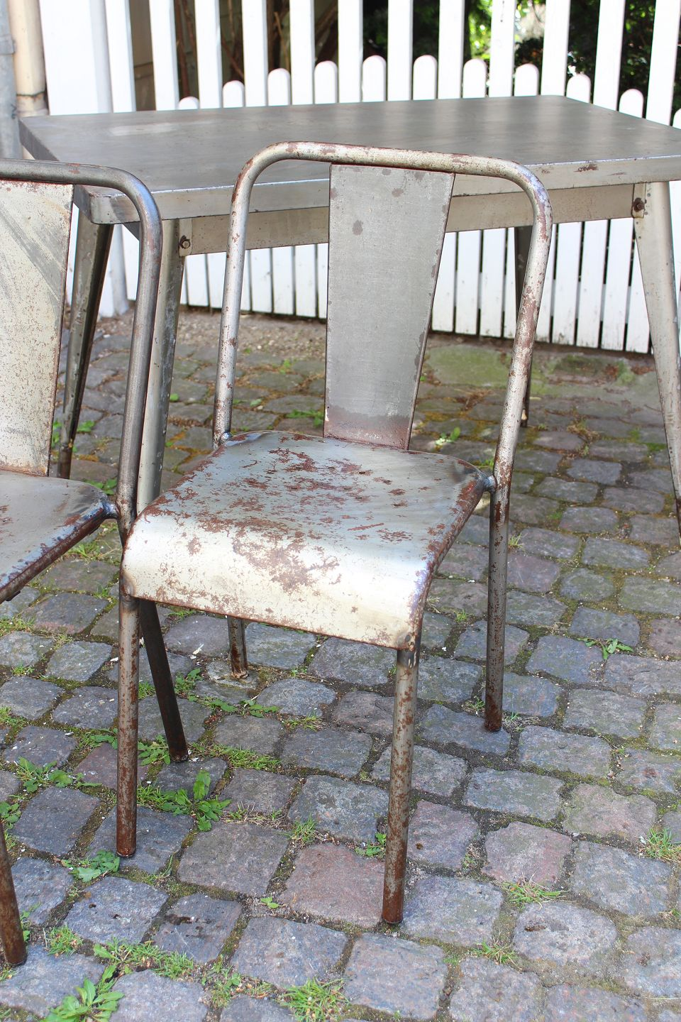 french the apstort old model net metal polished a chair from worldantique original tolix asp in