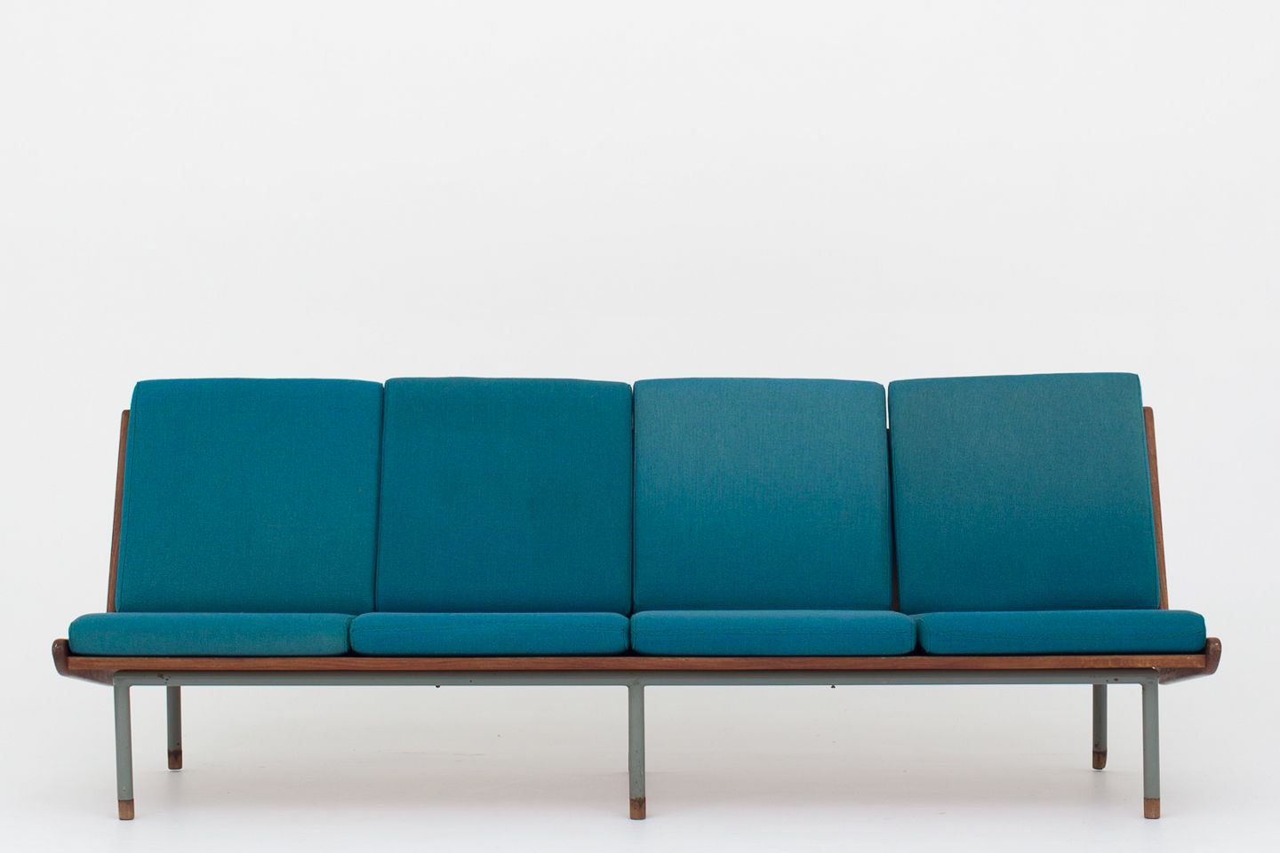 Swell Dansk Snedkermester Bench Sofa In Teak And Grey Frame W Turquoise Cushions In Hallingdal 65 Wool Feet In Teak 1 Pc In Stock Used Conditon Onthecornerstone Fun Painted Chair Ideas Images Onthecornerstoneorg