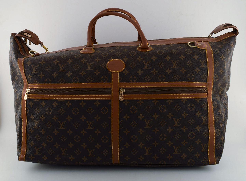 Louis Vuitton Large Vintage Travel Bag Of Monogram Canvas