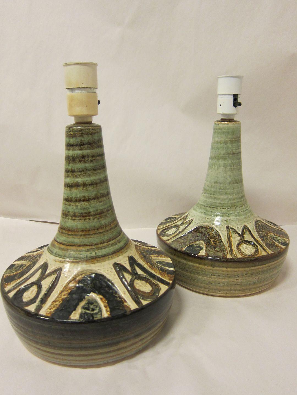 Worldantique table lamp sholm pottery table lamp 3076 3 sholm pottery table lamp 3076 3 stamp bornholms stentj sholm danmark pottery from bornholm denmark h excl the holder 27cm diam 22cm mozeypictures Images