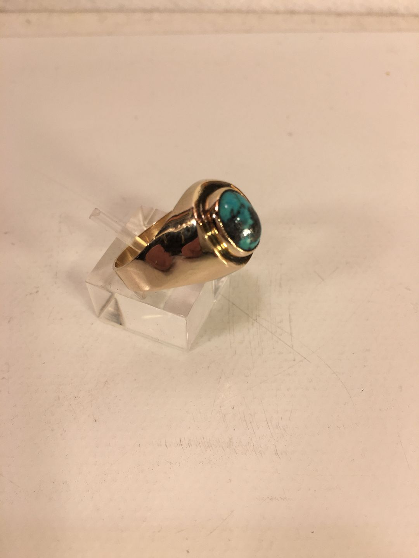 WorldAntique net - Gold ring with turkey  * Gold 8k * Ring size: 59