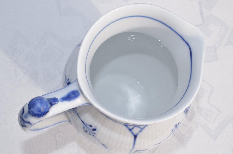 Blue Fluted Plain No Milk Jug Pitcher Royal Copenhagen 450